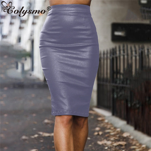 Sexy Skirt 2020 Winter Skirt Women Leather Skirt Sexy High Waist Pencil Midi Skirt 2020 Ladies Autumn Pu Leather Skirts Black New