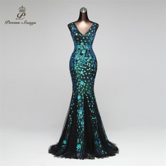 Elegant Mermaid Evening Dress prom gowns Formal Party dress vestido de festa Luxury robe longue vestido de festa longo