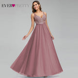 Bridesmaid Dresses 2020, Cheap Bridesmaid Dresses, Ever Pretty Tulle Bridesmaid Dresses Women V Neck Appliques Elegant Long Dresses For Wedding Party EP00930 Vestidos De Madrinha