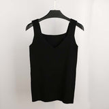 sexy slim tank top blouse cropped women sleeveless crop top halter white black bustier 2020 summer camis