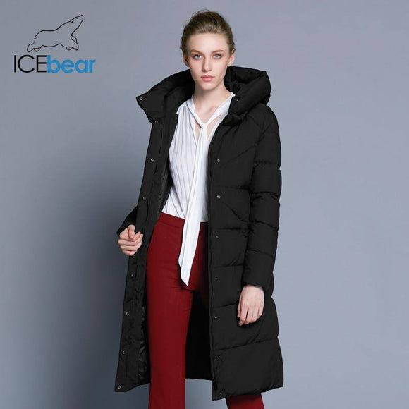 New High Quality Women'S Winter Jacket Simple Cuff Design Windproof Warm Female Coat 2020 Fashion Brand Parka Gwd18150