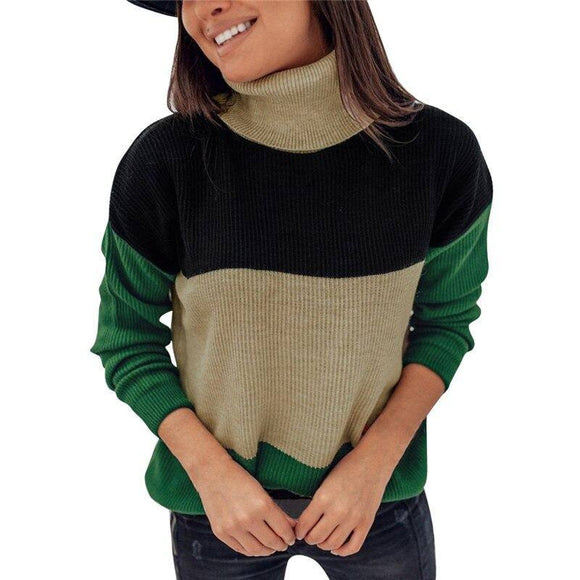 Women Knitted Sweater Elegant Winter Jumper Pullover 2020 Tops Long Sleeve Knitwear Knit Turtleneck Sweater Truien Dames Streetwear Pullover Sweater 2020</p>