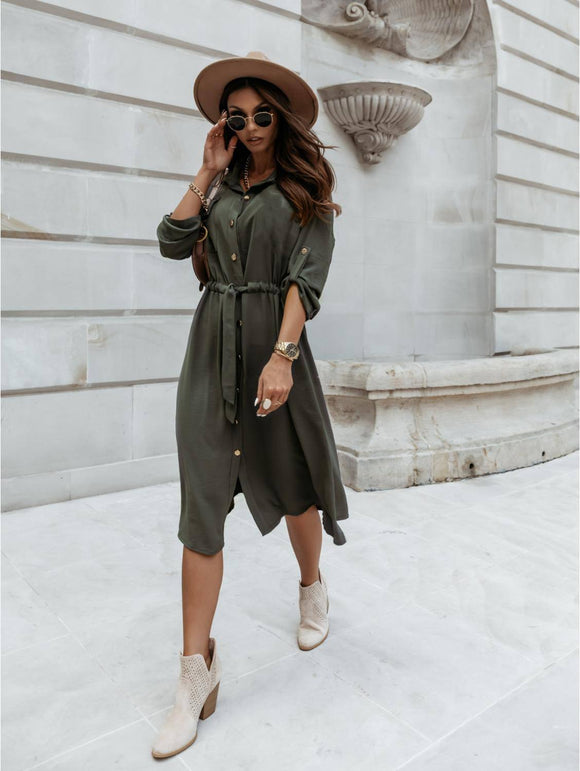 Leopard Print Women Button Shirt Dress 2021 Elegant Long Sleeves Belt Party Dress 2021 Casual Autumn Bandage Long Dress 2021 Vestido Femme