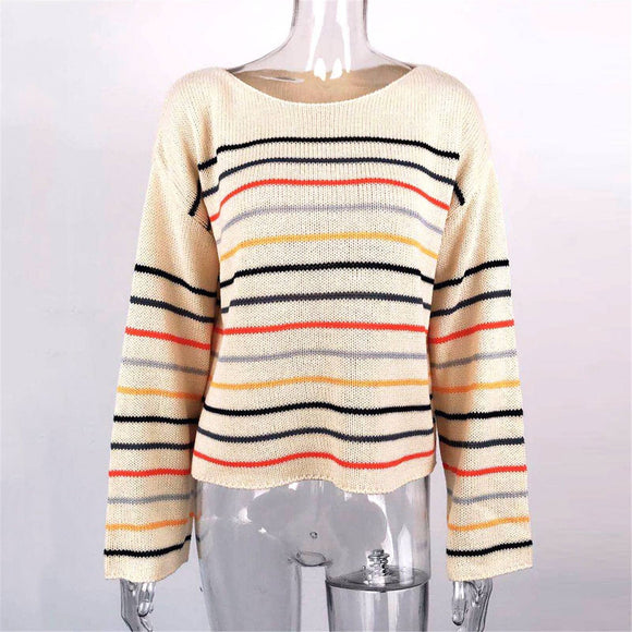 Women Lightweight Sweater 2020 Strip Off Shoulder Knit Tops Casual Loose Blouse Shirt Sweater 2020 Dress Female Sweater 2020 Women Sweater 2020