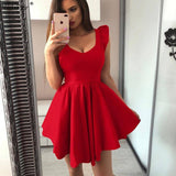 Nadafair Ruffles A-Line Wrap Mini Summer Dress 2020 Women V Neck Sexy Bodycon Black Red Party Dress 2020