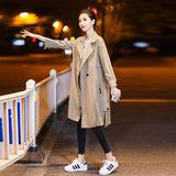 Women Casual Solid Color Double Breasted Jakcet Outwear Fashion Sashes Office Coat 2020 Chic Epaulet Design Long Trench Women's Trench Coat 2020