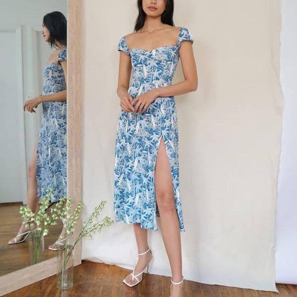 Summer Women'S Dress 2020 Casual Print Slim Dress 2020 Vestidos