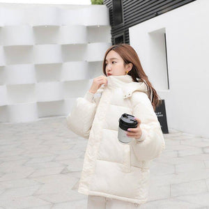 New Arrival Female Winter Cotton Padded Coat 2020 Warm Thick Puffer Jacket 2020 Women Bubble Coat 2020 Casual Spray-Bonded Wadding Zipper Women's Trench Coat 2020