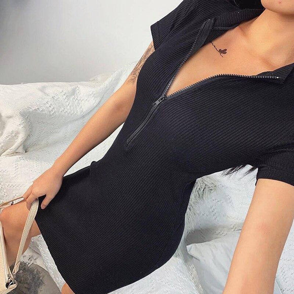 Summer Women Bodycon Dress 2020 Spring Sexy Short Sleeve Party Club Mini Black Knitted Dress 2020 For Women Female Vestido