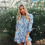 New Autumn Bohemia Beach Leisure Vacation Dress 2020 Women Hollow Backless Elegant Slim Casual Bodycon Mini Dress 2020 Mujer