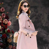 Women Long Trench Double Breasted Vintage Cloak New Spring Casual Trench Coat 2020 With Sashes Oversize Overcoats Windbreaker Women's Trench Coat 2020