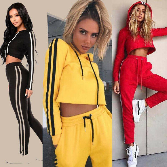 Women Hoodies Pant Clothing Set Casual 2 Piece Set Warm Clothes Tracksuit Top 2020 Pants Ladies Suit