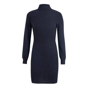 Women Autumn Long Sleeve Bodycon Bandage Dress 2020 Elegant Ladies Winter Knitted Sweater Dress 2020 Striped Casual Turtle Dames Vestido
