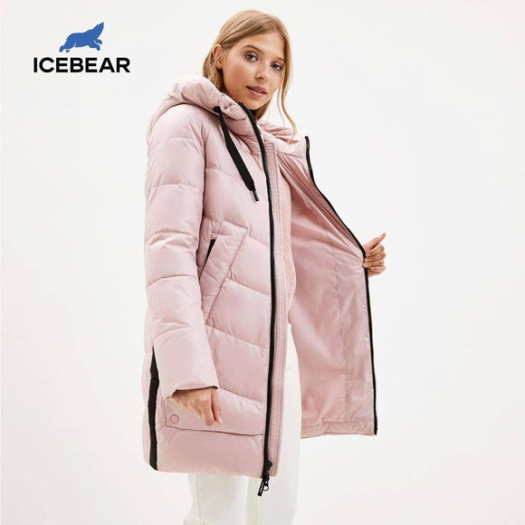 New Winter Women'S Coat 2020 Hooded Female Warm Cotton Jacket Winter Ladies Parka Brand Clothing Gwd20282I