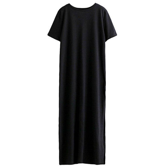 Maxi T Shirt Dress 2020 Women Summer Beach Sexy Elegant Casual Ukraine Vintage Linen Boho Party Long Black Bodycon Dress 2020 Plus Size