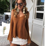 Winter Knitted Sweater Women 2017 Autumn Pullover 2020 Sweater Sexy V-Neck Long Sleeve Jumpers Pull Femme Sweater Pullover Sweater 2020</p>