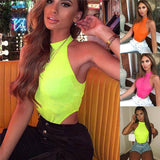 Women Bodycon Slim Fitness Workout Sleeveless Clubwear Rompers Jumpsuit 2020 Off Shoulder Halter Solid Summer Bodysuit Outwear Tops