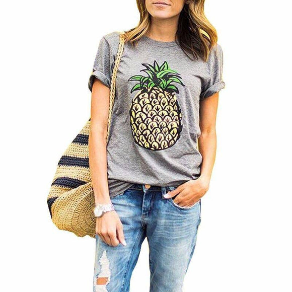 2021 Women New Brand Oversized Casual Summer Designer Grey Round Neck Short Sleeve Printed Clothes T-Shirt XS-4XL 2021