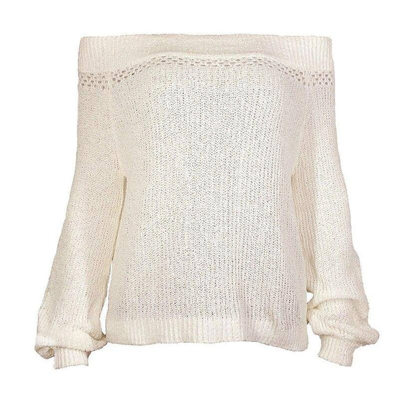 Korean Knitted Sweater 2020 Fashion 2018 Women Autumn Clothing Lantern Sleeve Off Shoulder Sweater 2020 Ladies Sexy Jumpers