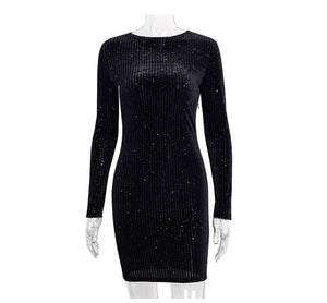 Fashion Velvet Dress 2020 Long Sleeve Night Club Party Dress 2020 Women Slim Autumn Winter Dress 2020 Sexy Bodycon Dress 2020