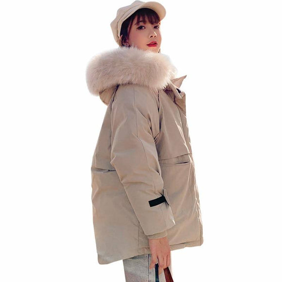 New Winter Jacket 2020 Women Parkas 2020 Fashion Women'S Jacket 2020 Fur Collar Outerwear Female Coat 2020 Coat 2020 Hooded Parkas 2020 Mujer Parka Women's Trench Coat 2020