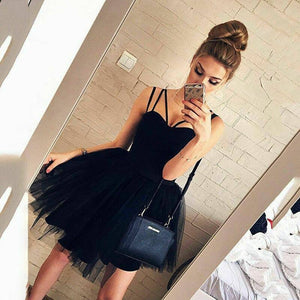 Women Formal Strappy Short Tulle Tutu Dress 2020 Wedding Evening Party Prom Ball Gown Dress 2020 Sleeveless V-Neck High Waist Formal Dress 2020