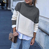 New Arrival Patchwork Turtleneck Pullover 2020 Women Knitwear Autumn Winter Sweaters And Pullover 2020 Casual Knitted Jumper Pullover Sweater 2020</p>