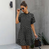 Black Dress 2020 Polka-Dot Women Summer Sundresses Casual White Loose Fit Clothes Free People Yellow Womens Clothing Everyday