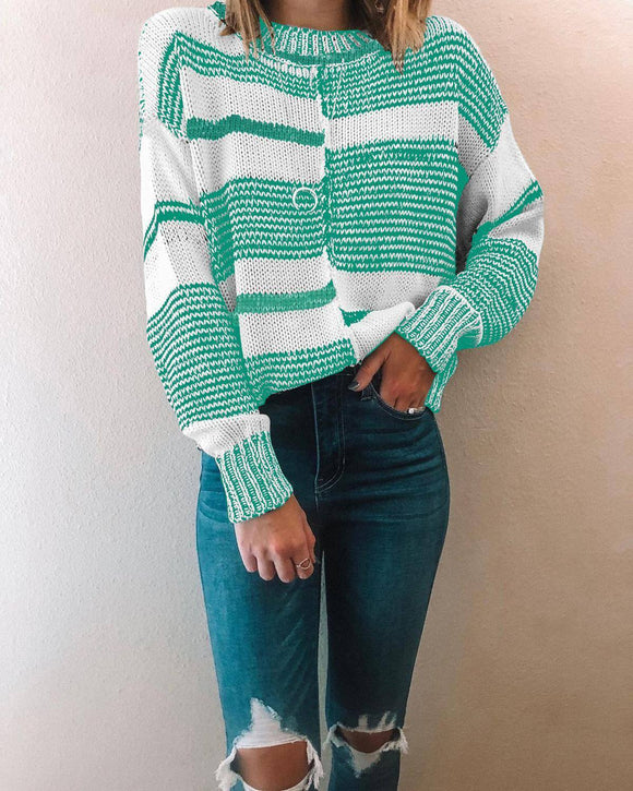 Casual Black White Striped Sweater 2020 For Women Long Sleeve Pullovers Winter Basic Jumper Knitwear Boho Sweater 2020 Ladies