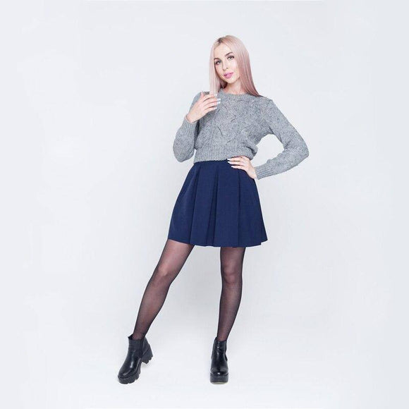 Sexy Skirt Shyloli Women High Waist Pleated Skirt 2021 Womens Thick Skirt 2021 Autumn And Winter Mini Skirt 2021 Women Clothing Bottoms New Style