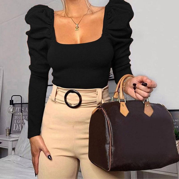 Women Tshirts Autumn Pullover Crop Top 2020 Tees Long Sleeve Black White Solid Winter Short Top 2020 Tees T-Shirts Women