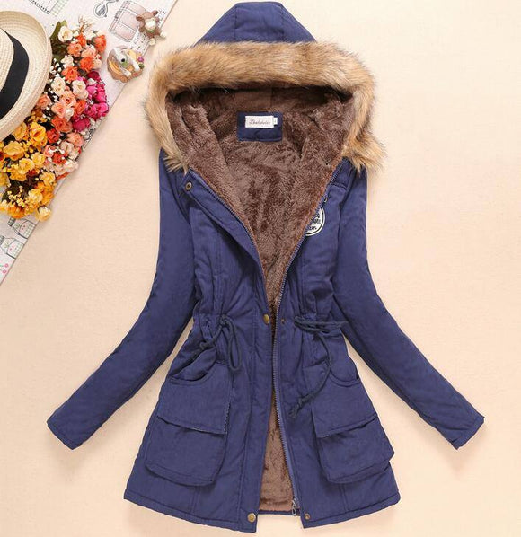 New Winter Women Jacket 2020 Medium-Long Thicken Plus Size 4Xl Outwear Hooded Wadded Coat 2020 Slim Parka Cotton-Padded Jacket 2020 Overcoat Women's Trench Coat 2020
