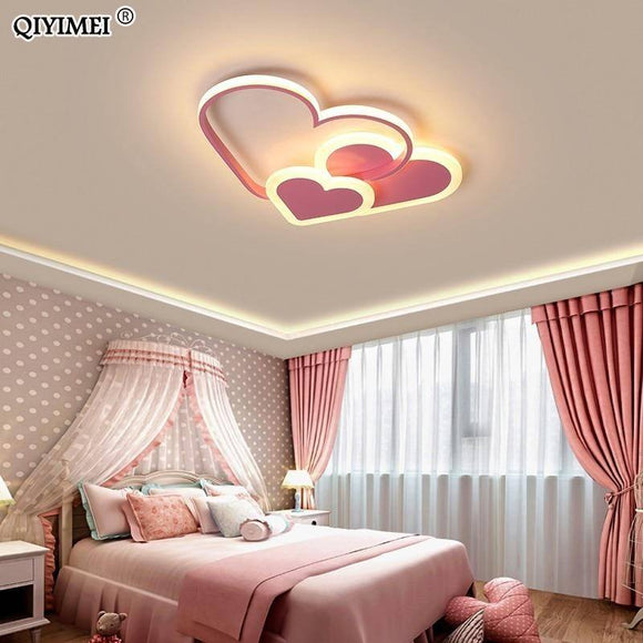 Heart Led Chandelier Light 2020 For Girl Room Bedroom Plafond Acrylic Lighting Lamp Modern New Fixture Lampadario Luminaire Lustres Best Seller! Chandelier Light Fixture
