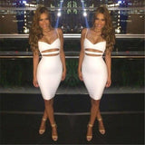 Sexy Dress 2020 Club Wear Women Vestidos Summer Sleeveless Bodycon Dress 2020 Cotton White Black Midi Pencil Bandage Party Dress 2020