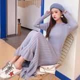 Long Sweater Dress 2020 Women Maxi Dress 2020 Knit Fishtail Long Winter Dress 2020 Plus Size Women Clothing