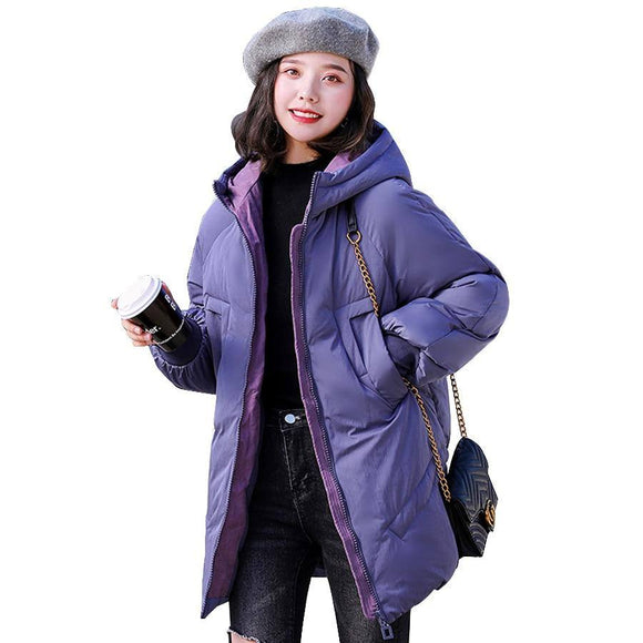 Three Color Winter Coat 2020 Women Thicken Warm Hooded Jacket 2020 Winter Cotton Padded Parka Female Outwear Plus Size Abrigo Mujer Women's Trench Coat 2020
