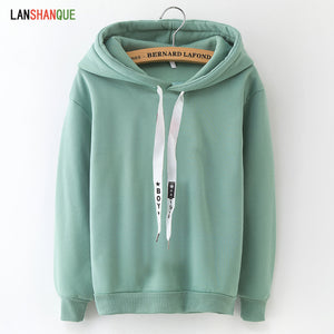 Hoodies & Sweatshirts Hoodies Women 2020 Brand Female Long Sleeve Solid Color Hooded Sweatshirt Hoodie Tracksuit Sweat Coat Casual Sportswear S-3XL