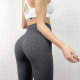 Cheap Leggings 2020 Women's Fashion Seamless Leggings Ladies Athleisure Sportswear Sweat Pants 2020 Trousers High Waist Solid Fitness Leggings
