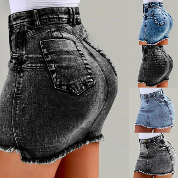 Sexy Skirt 2020 Women Denim Bodycon Mini Skirt 2020 High Waist Sexy Pencil Jeans 2020 Short Skirts Summer Fashion Pocket Jean Mini Skirt 2020