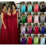 Long Bridesmaid Dresses 2020 Cheap Hot Wedding Party Guest Formal Dress 2020 Cap Sleeves Purple Burgundy Lavender Coral Brides Maid Dress