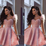 2020 Sexy Arabic Dubai Style Wear Beige Homecoming Dress 2020 Graduation Dresses Party Gown Graduation Plus Size Pink Prom Dresses 2020
