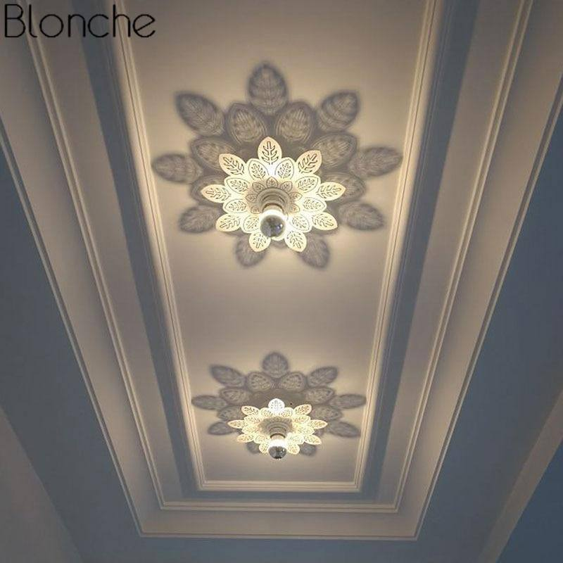 Modern Flower Shadow Lamp 2020 Ceiling Lights For Living Room Bedroom Stair Nordic Led Wall Sconce Art Home Decor Lighting Fixtures Swansstyle