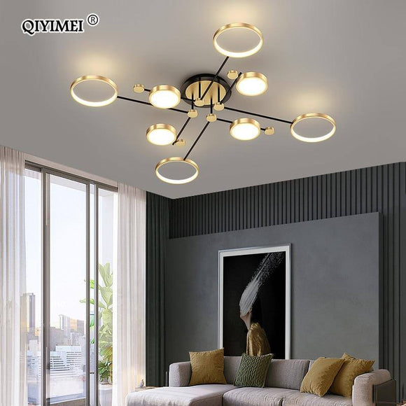 Modern Led Chandelier Light 2020 For Living Room Bedroom New Lamp Gold Frame Aluminum Dropshipping Indoor Fixture Light Lustres Best Seller! Chandelier Light Fixture