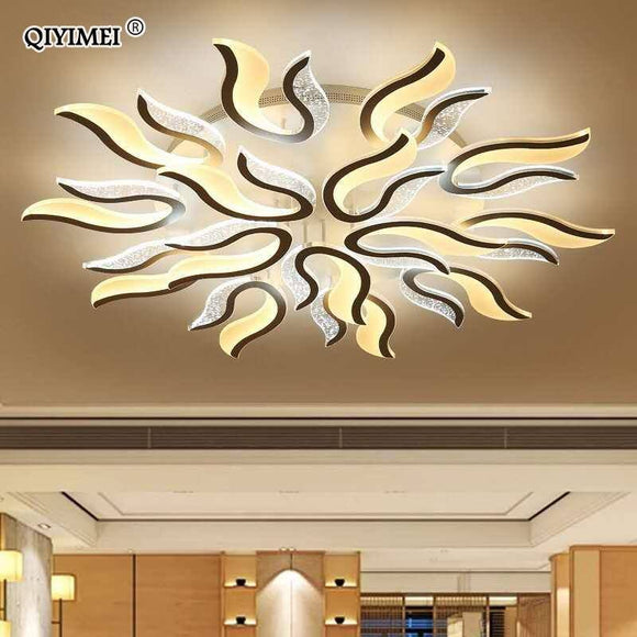 Modern New Acrylic Led Ceiling Chandelier Light 2020 White Color For Living Room Bedroom Chandelier Light 2020 Lampadario Led Best Seller! Chandelier Light Fixture