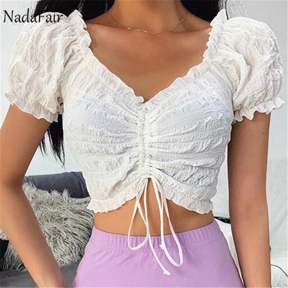 White Crop Top 2020 2020 Fashion Summer Tops Women Camis Tops Black White V Neck Sexy Cropped Top Female Streetwear Tank Clothes Cropped Feminino Sleeveless Tank Top   Swansstyle