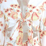 Nattemaid Print Summer Two Piece Set Women Floral Sleeveless Crop Top Shorts Outfits Summer Casual Female Set Beach Club Clothes   Swansstyle