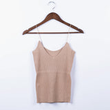 Spring Camis 2020 Sexy Sleeveless Tank Top Fashion Women Knitted Top 2020 Vest Striped Slim Casual Tight Bottoming Solid Sleeveless Tops