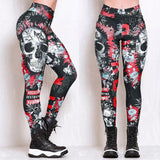 Skull Head 3D Printed Legging 2020 Women Camouflage Legging Workout Leggins Slim Elastic 3D Printed Legging 2020   Swansstyle