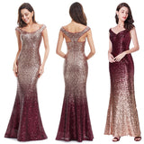 New Gold Prom Dresses 2020 Long Elegant Sleeveless Scoop Sequin Prom Dresses 2020 Sparkle Mermaid Party Gowns