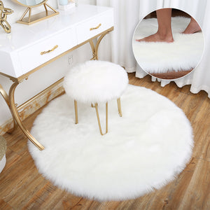 New Hot Artificial Sheepskin Rug Chair Cover Bedroom Mat Artificial Wool Warm Hairy Carpet Seat Textil Fur Area Rugs